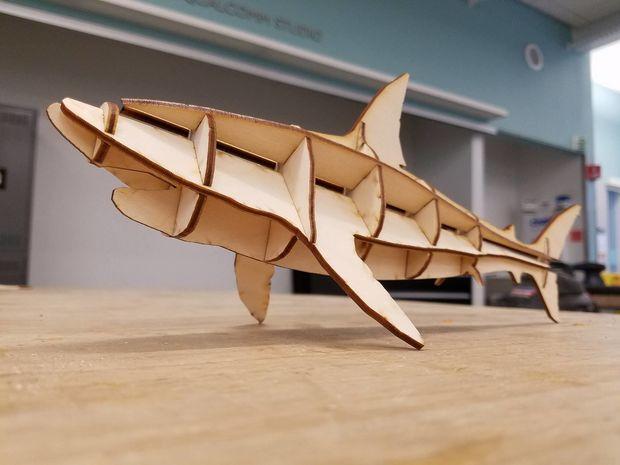 Laser Cut Shark Free CDR Vectors Art