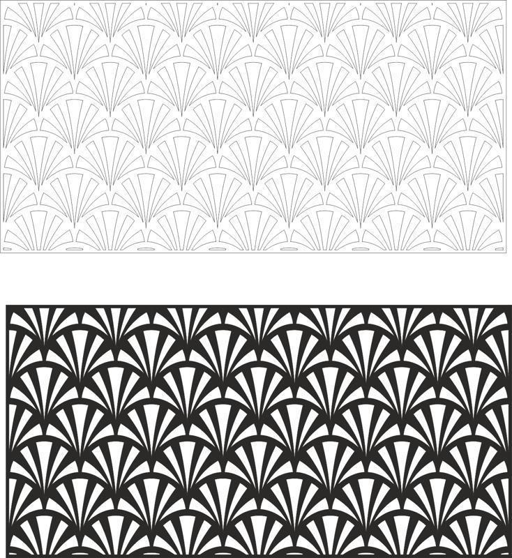 Laser Cut Vector Panel Seamless Floral Pattern Free CDR Vectors Art