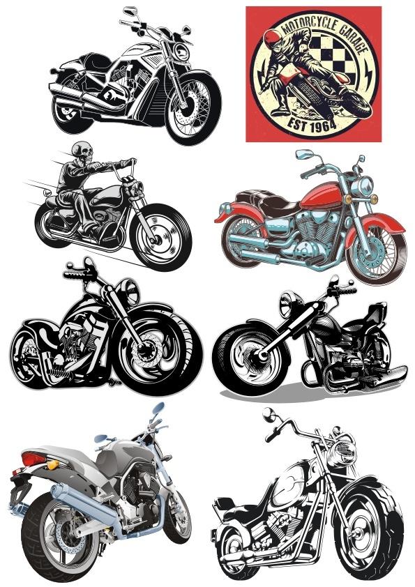 Motorbike Stickers Free CDR Vectors Art