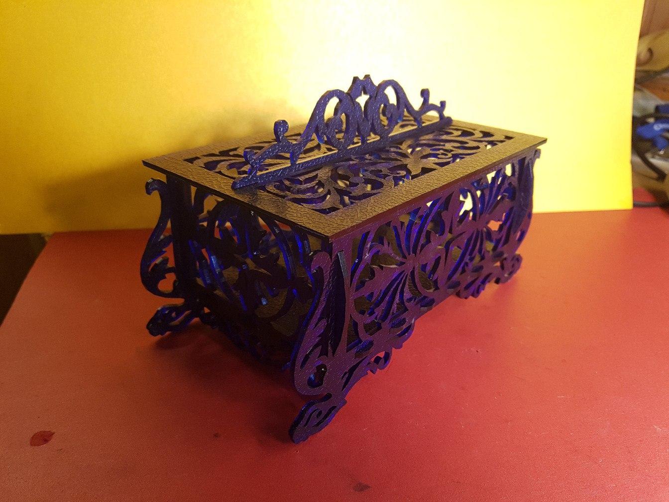 Casket laser model Free CDR Vectors Art