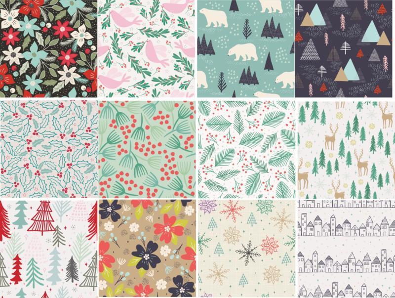 Winter Patterns Set Free CDR Vectors Art
