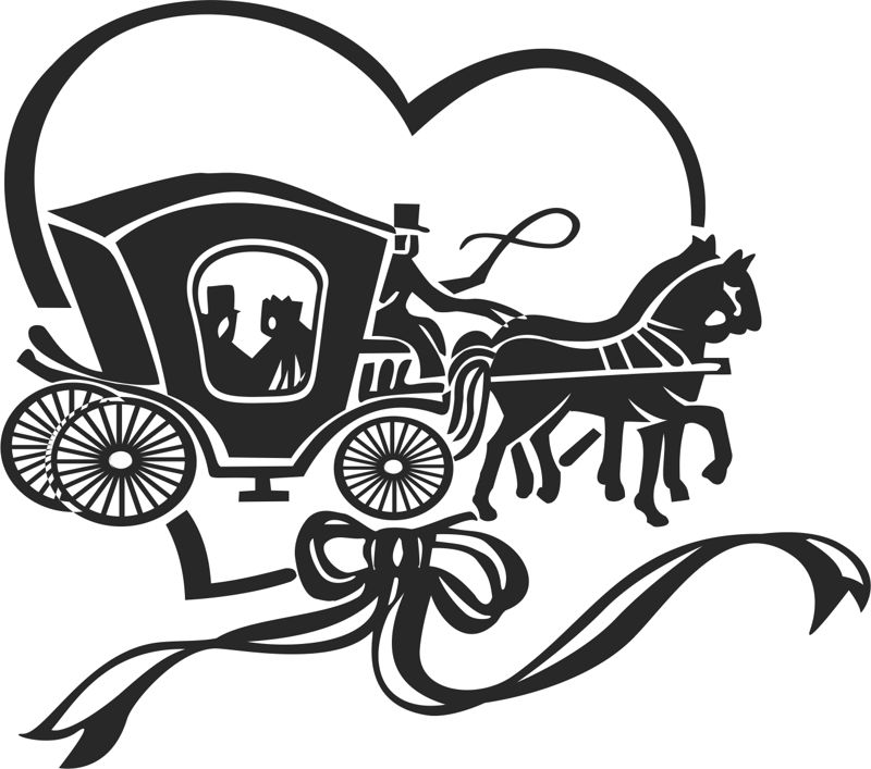 Horse and buggy Free CDR Vectors Art
