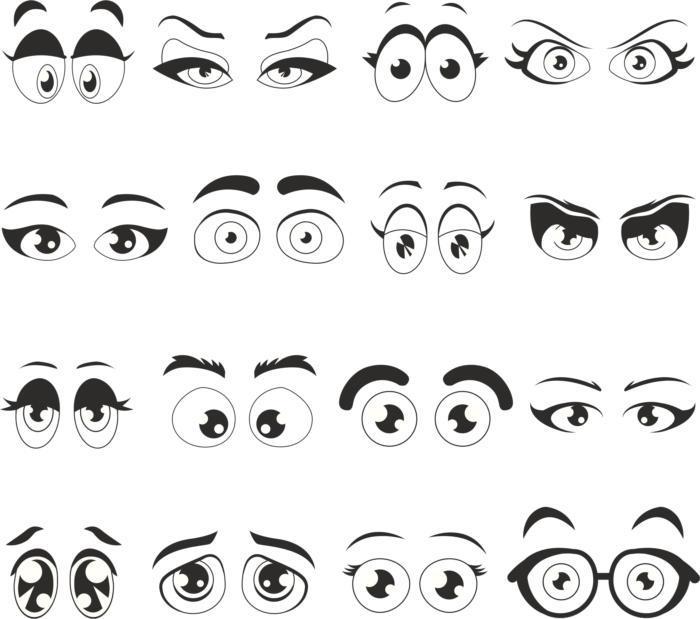 Cartoon Eyes Free CDR Vectors Art