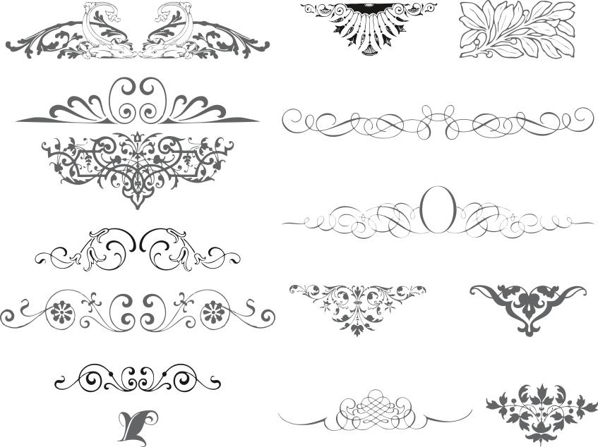 Ornaments Collection Free CDR Vectors Art
