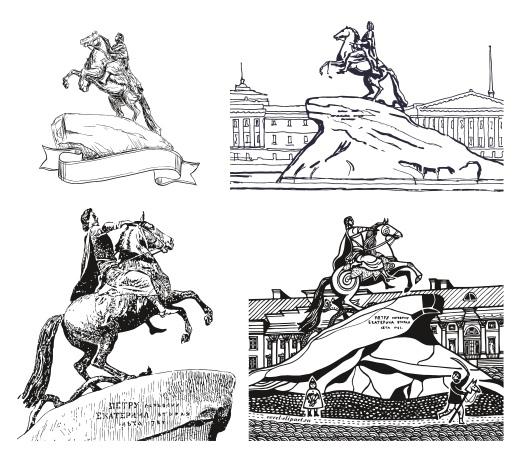 The Bronze Horseman – Mednyi Vsadnik Free CDR Vectors Art