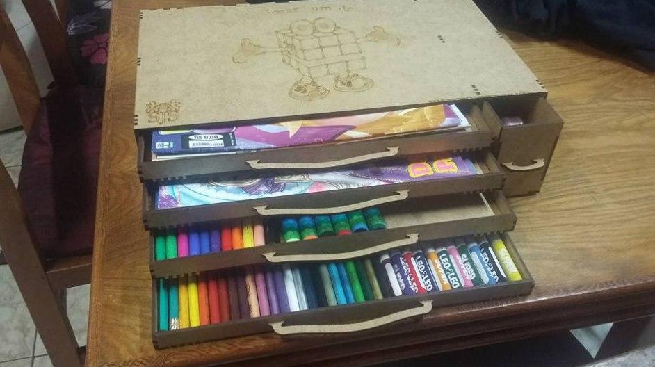 Laser Cut Wooden Pencil Box Free CDR Vectors Art