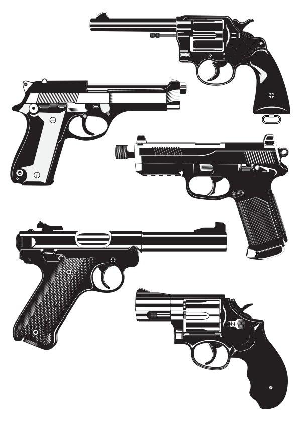 Guns Free CDR Vectors Art