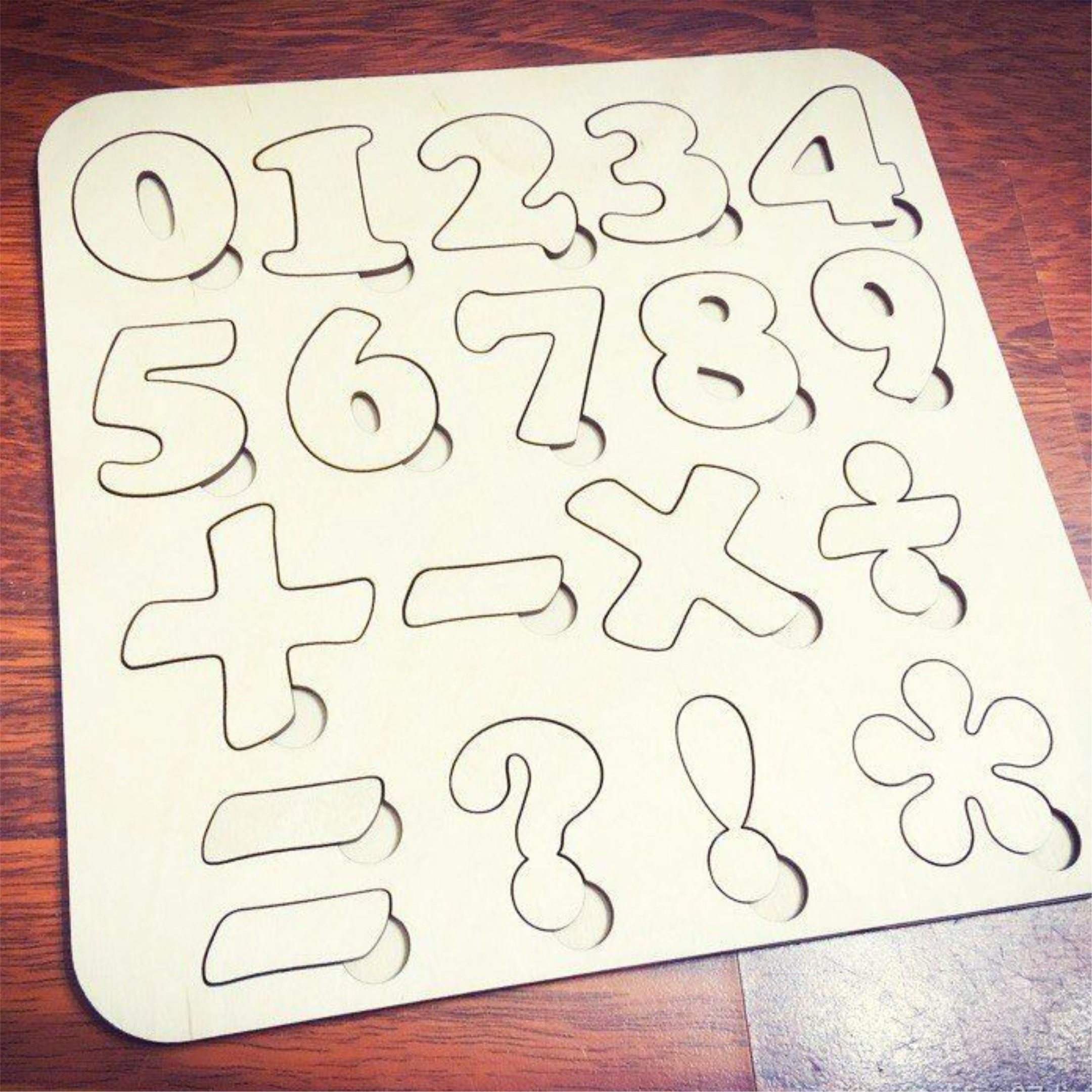 Numbers Puzzle Template Free CDR Vectors Art