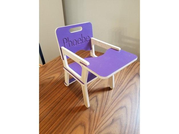Children's Chair 9mm Vector plan Free CDR Vectors Art