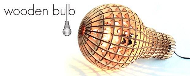 Woodne Light Bulb Laser Cut Free CDR Vectors Art