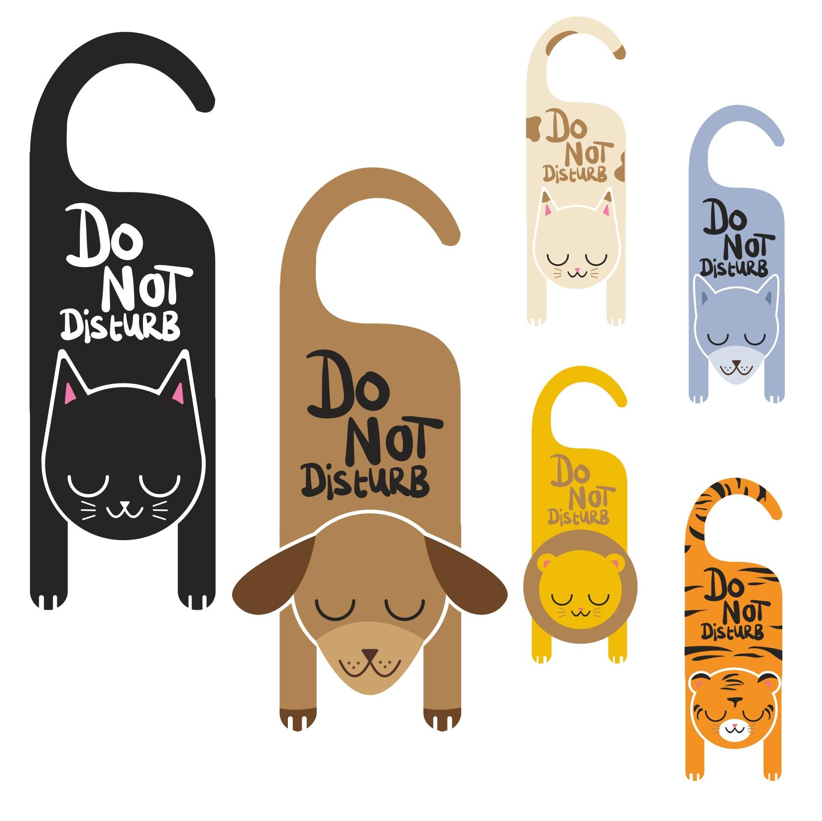Do Not Disturb Sign Free CDR Vectors Art
