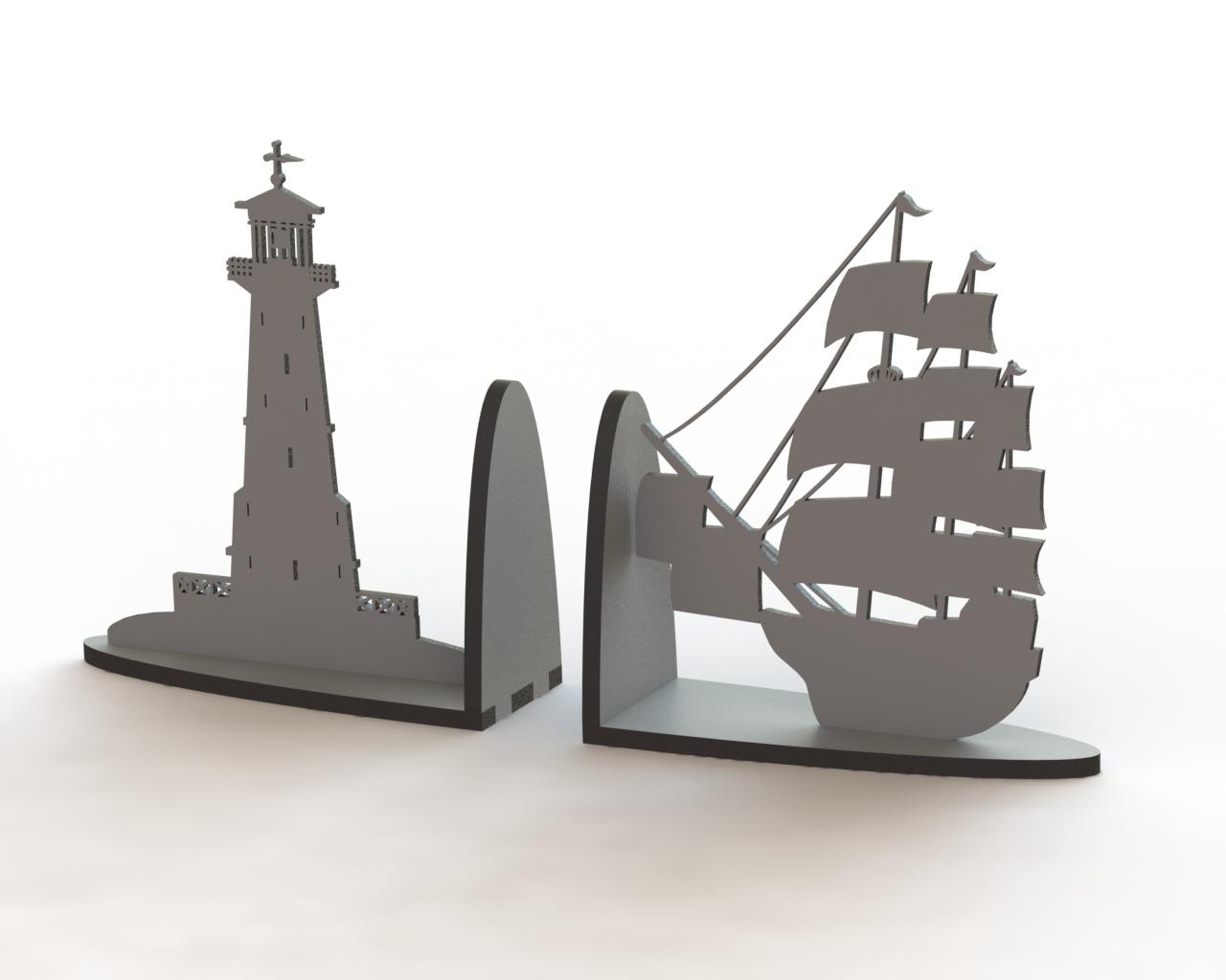 Ship Book Support Laser Cut Free CDR Vectors Art
