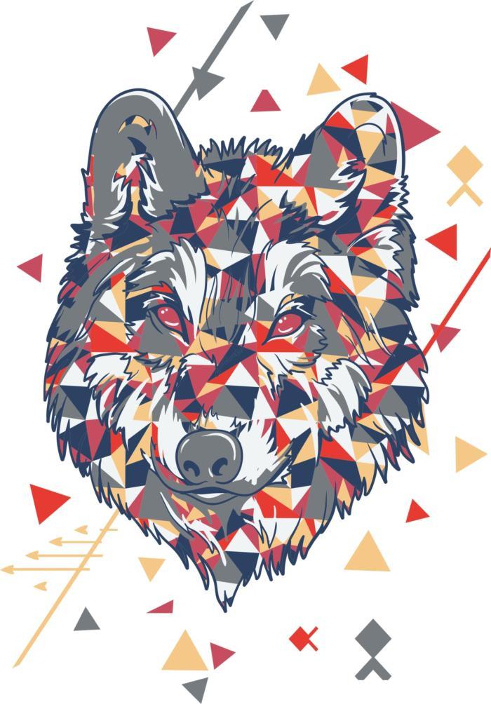 Wolf Tshirt Design Free CDR Vectors Art