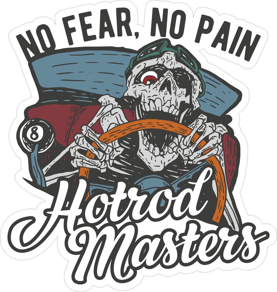 Hotrod Master Sticker Free CDR Vectors Art