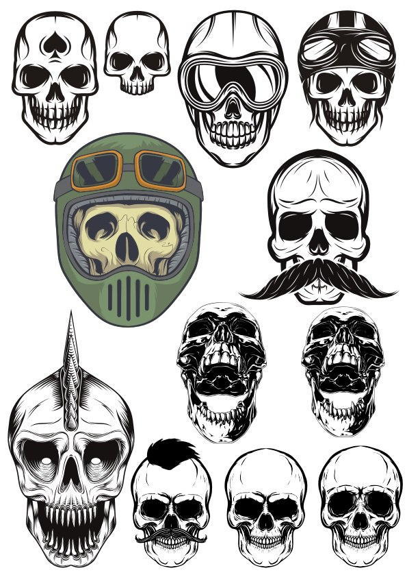 Viking Skull Free CDR Vectors Art