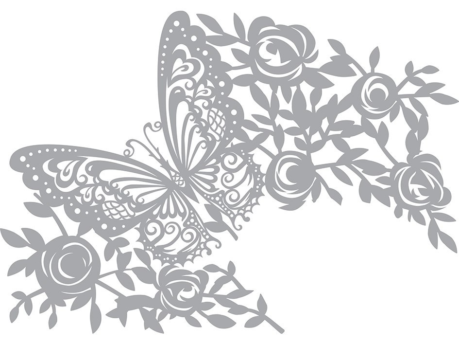 Pronty Mask stencil Butterfly Free CDR Vectors Art