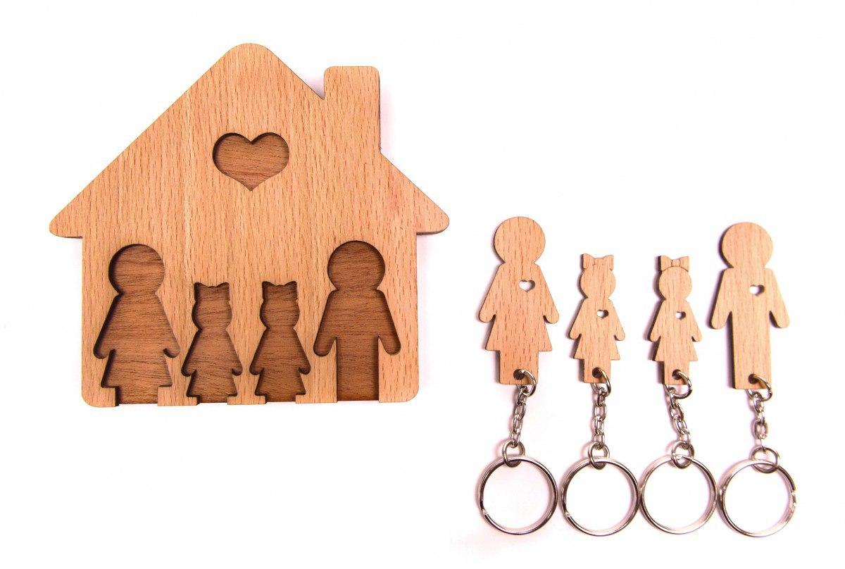 Personalized Key Holder Wall Key Rack Free CDR Vectors Art