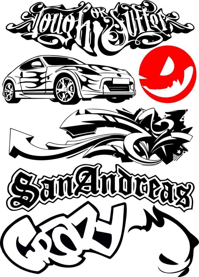 Car Bike Vehicle Graphics Vinyls Decals Free CDR Vectors Art