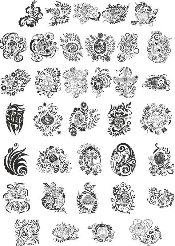 Abstract Floral Design Elements Free CDR Vectors Art