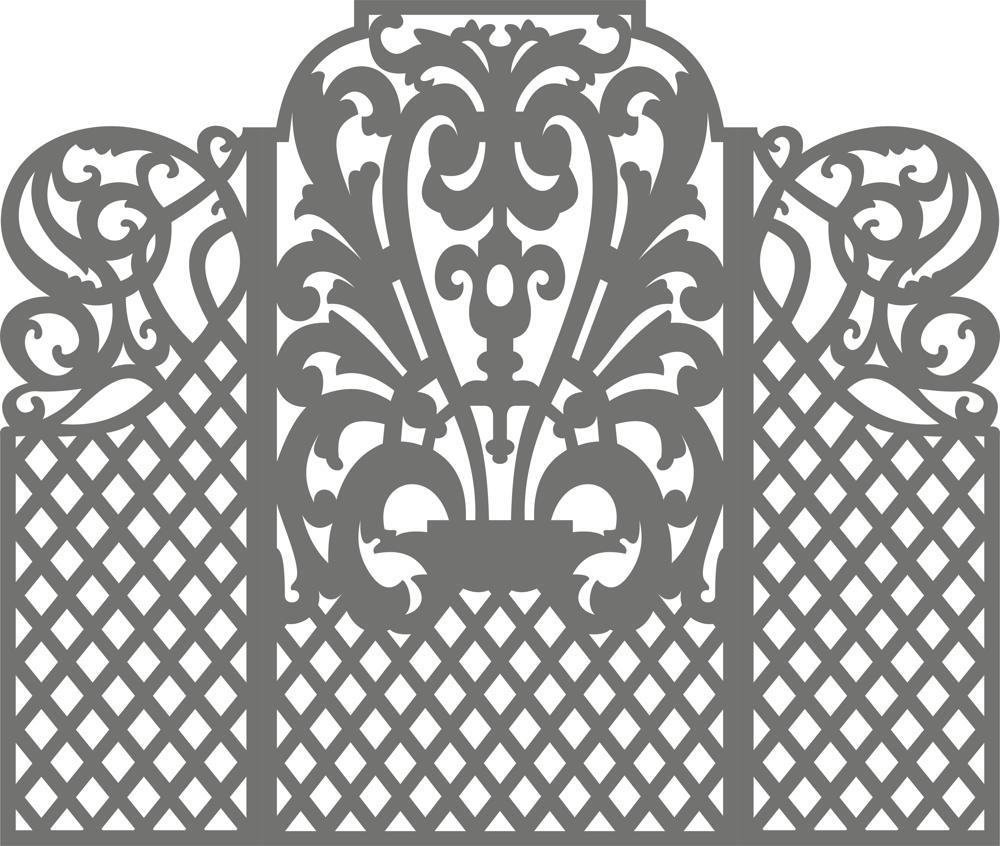 Carved Wedding Screen Free CDR Vectors Art