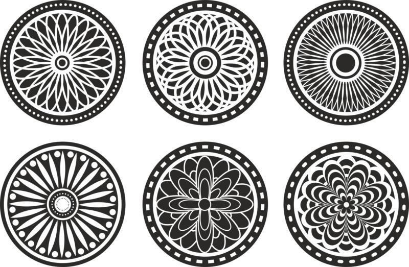 Circle Lasercut Element Free CDR Vectors Art