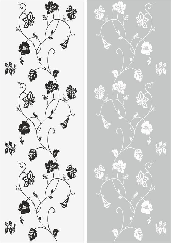 Leaf Vine Plant Sandblast Pattern Free CDR Vectors Art