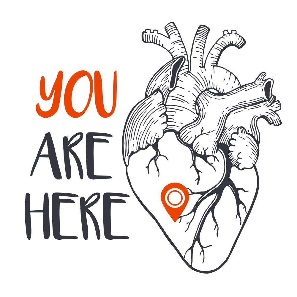 You Are Here Print Free CDR Vectors Art