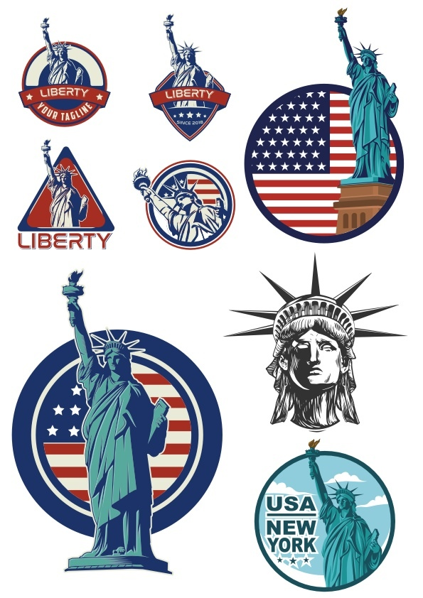 Usa Liberty Statue Logo Free CDR Vectors Art