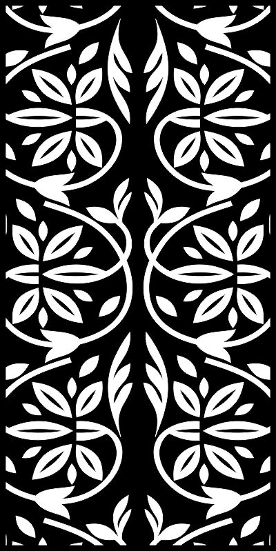 Trees Floral Laser Cut Privacy Screens Pattern Free CDR Vectors Art