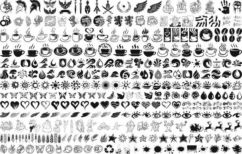 Vector graphic set Free CDR Vectors Art