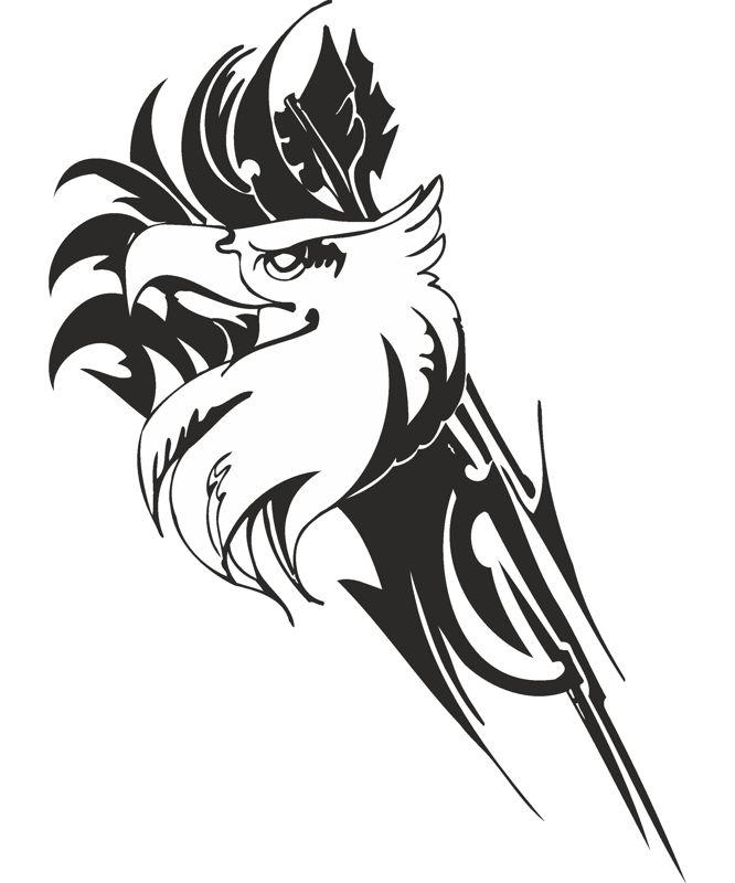 Eagle predatory bird Sticker Free CDR Vectors Art