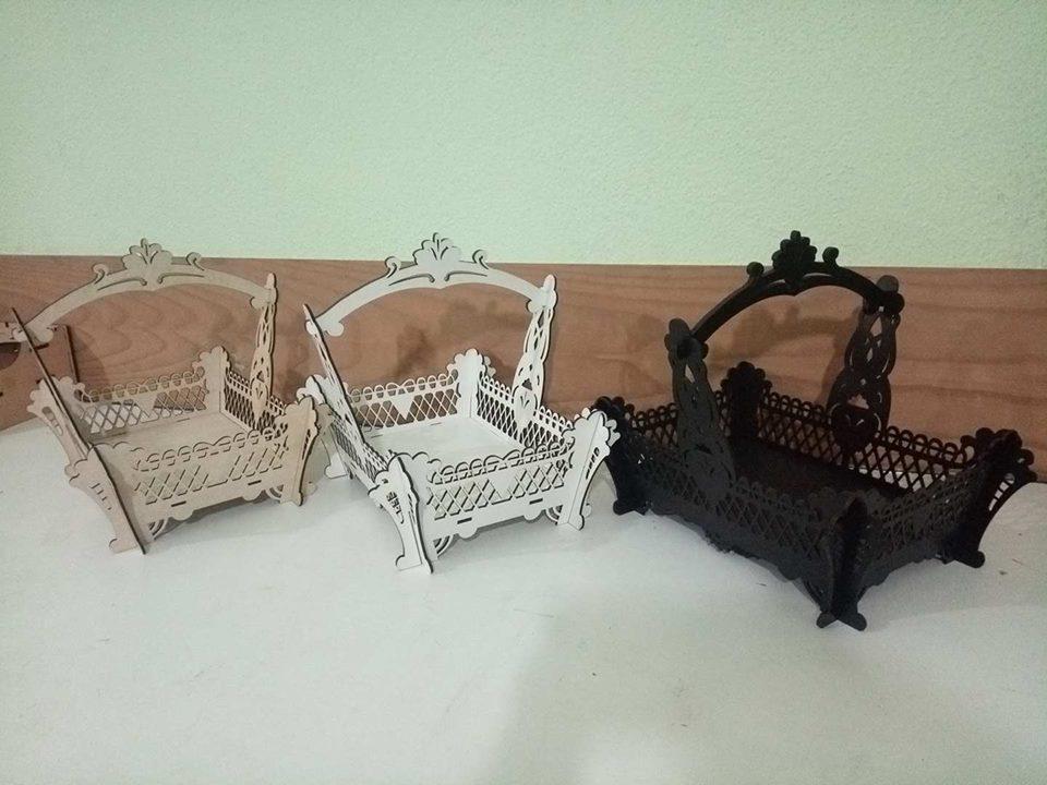 Basket with Handle Free CDR Vectors Art