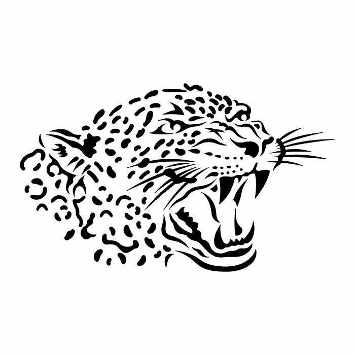 Leopard Stencil Free CDR Vectors Art