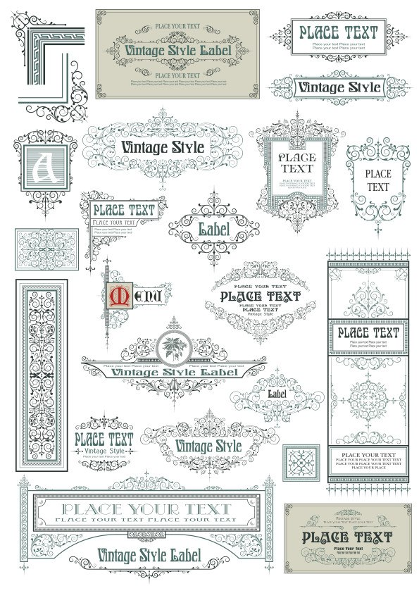 Vintage Vector Label Page Dividers And Borders Free CDR Vectors Art