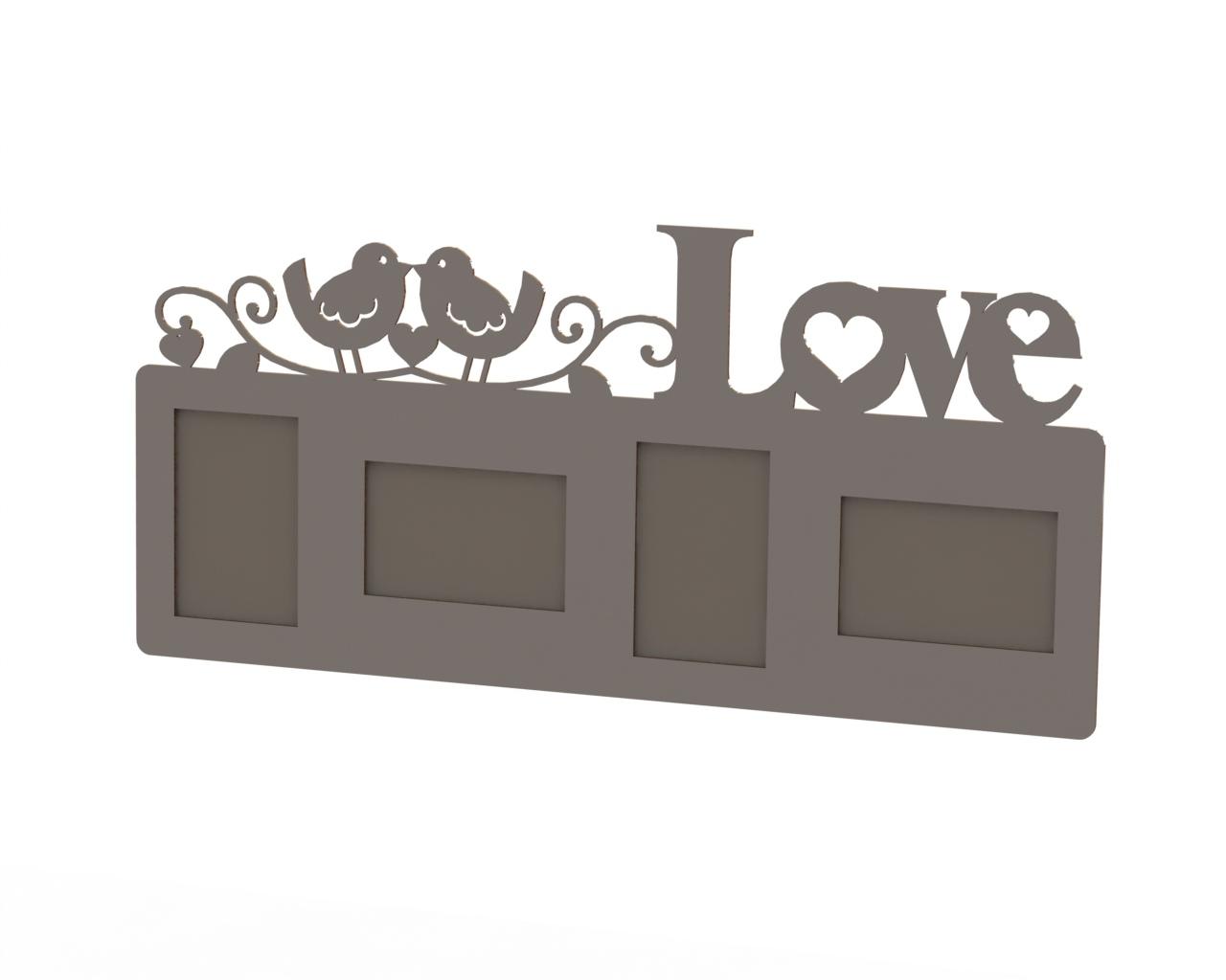 Love Frame Laser Cut Free CDR Vectors Art