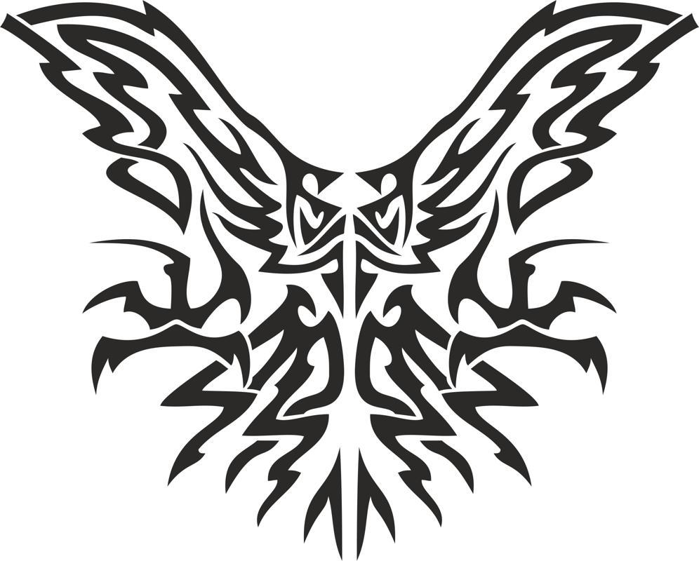 Tribal Eagle Free CDR Vectors Art