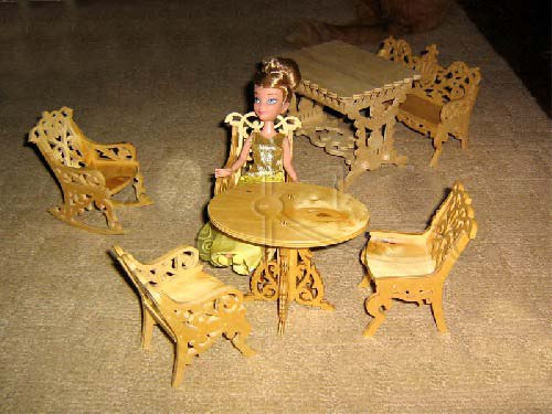 Mini Dollhouse Furniture Free CDR Vectors Art