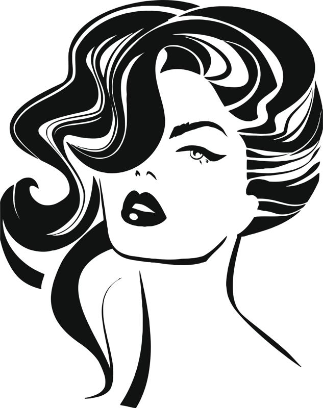Vintage woman face Fashion and Hair Free CDR Vectors Art