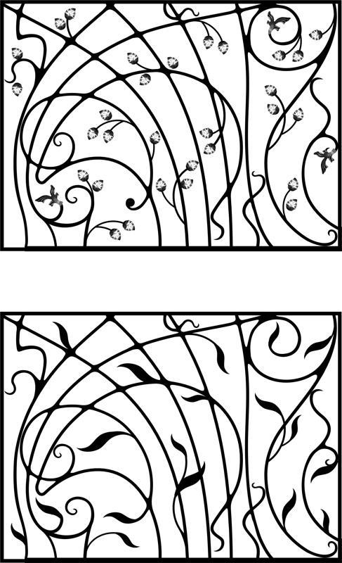 Wrought Iron Gate, Door, Fence, Window, Grill, Railing Design Free CDR Vectors Art