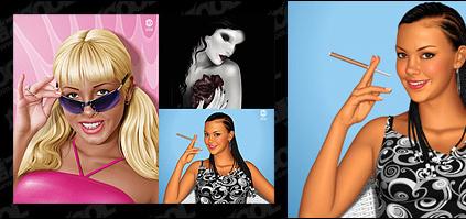 Beautiful women Free CDR Vectors Art