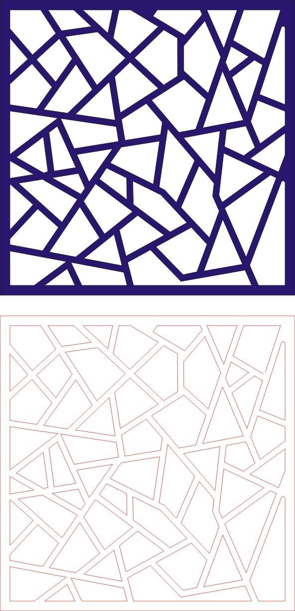 Laser Cut Seamless Panel Design D-139 Free CDR Vectors Art