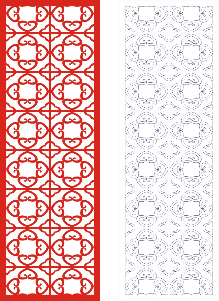 Laser Cut Seamless Panel Design D-143 Free CDR Vectors Art