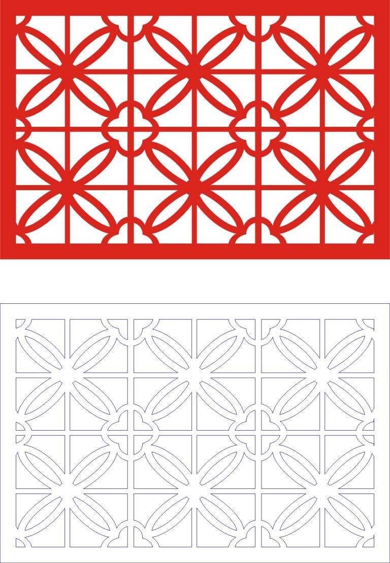 Laser Cut Seamless Panel Design D-144 Free CDR Vectors Art