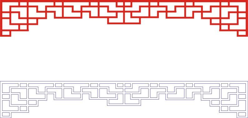 Laser Cut Seamless Panel Design D-145 Free CDR Vectors Art
