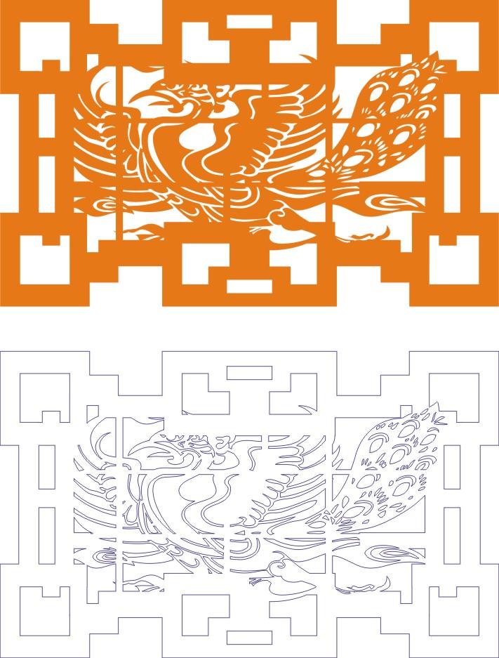 Laser Cut Seamless Panel Design D-148 Free CDR Vectors Art