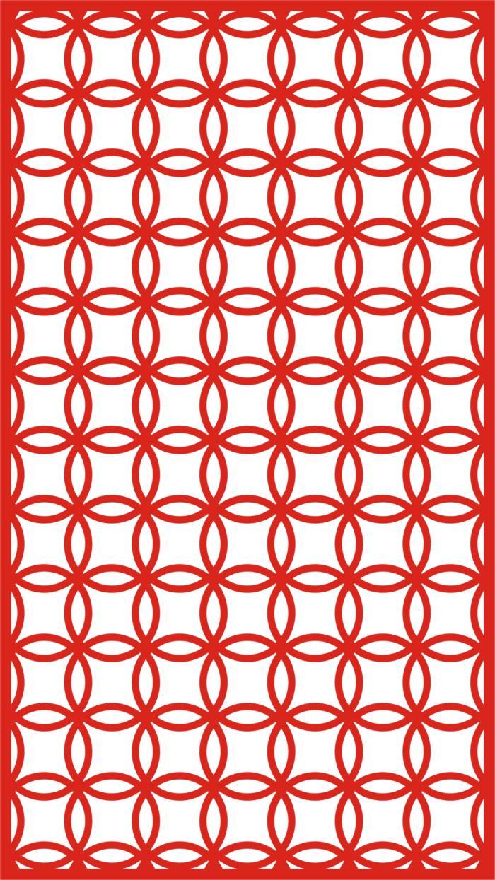 Laser Cut Seamless Panel Design L-006 Free CDR Vectors Art