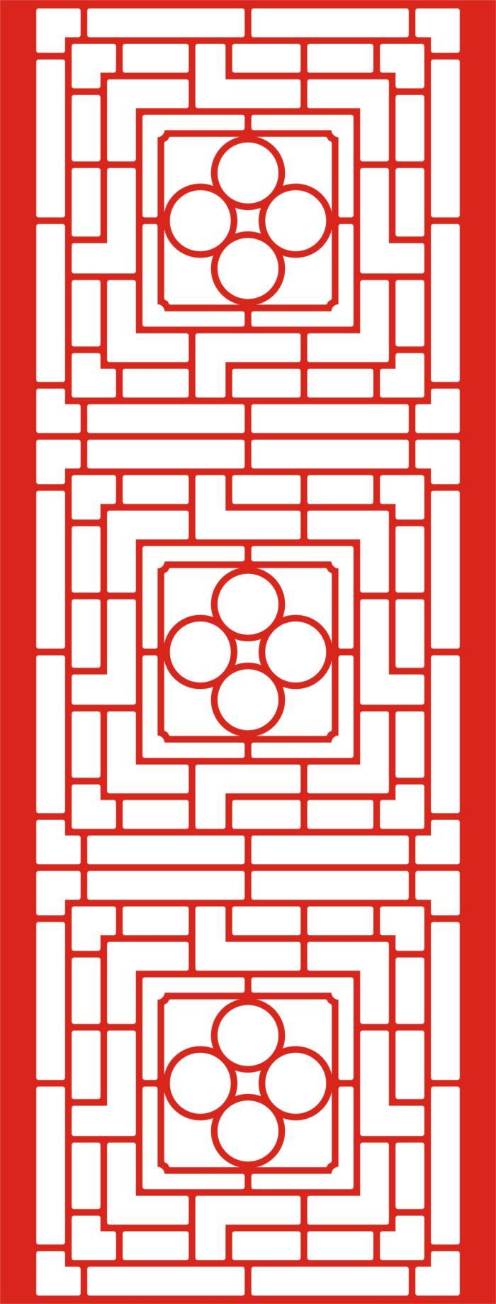 Laser Cut Seamless Panel Design L-007 Free CDR Vectors Art