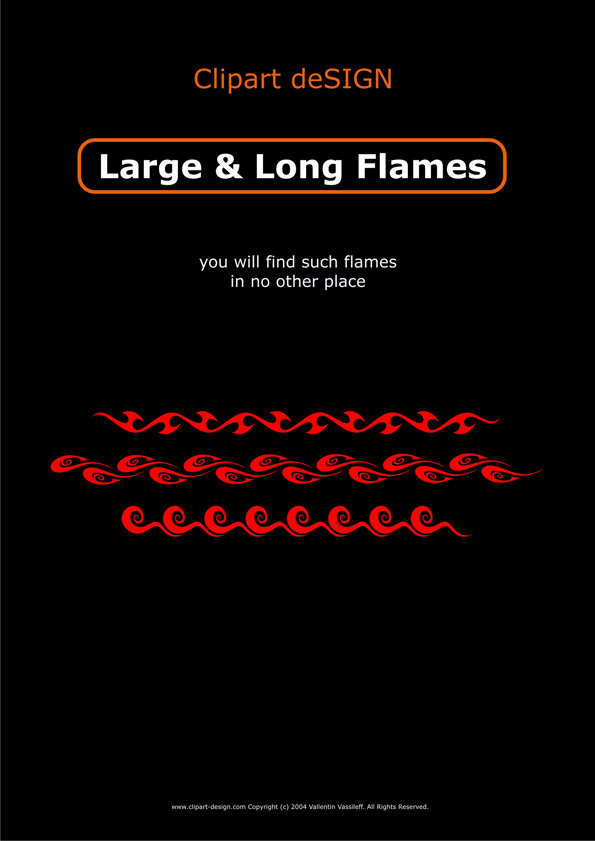 100 variety of long flame pattern Free CDR Vectors Art