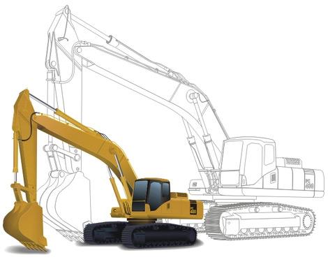 Digging machine Free CDR Vectors Art