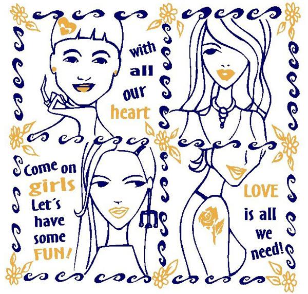 2european cartoon tshirt pattern Free CDR Vectors Art